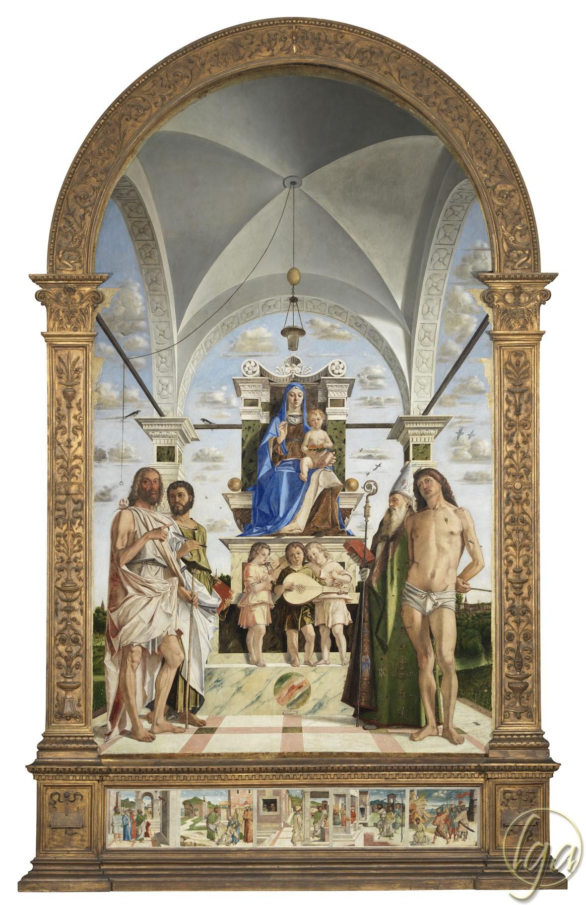 1485 Bartolomeo Montagna Pala de San Bartolomeo pinacoteca civica di Vicenza