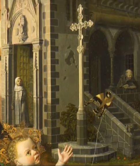 1485 ca Bermejo Bartolome Madonna di Montserrat e Gesu Bambino cattedrale di Santa Maria Assunta, Acqui Terme chardonneret