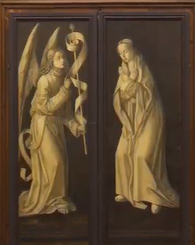 1485 ca Bermejo Bartolome Madonna di Montserrat e Gesu Bambino cattedrale di Santa Maria Assunta, Acqui Terme revers
