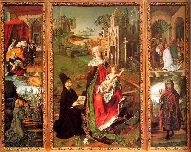 1485 ca Rodrigo de Osona. volets lateraux cathedrale di Santa Maria Assunta, Acqui Terme ensemble