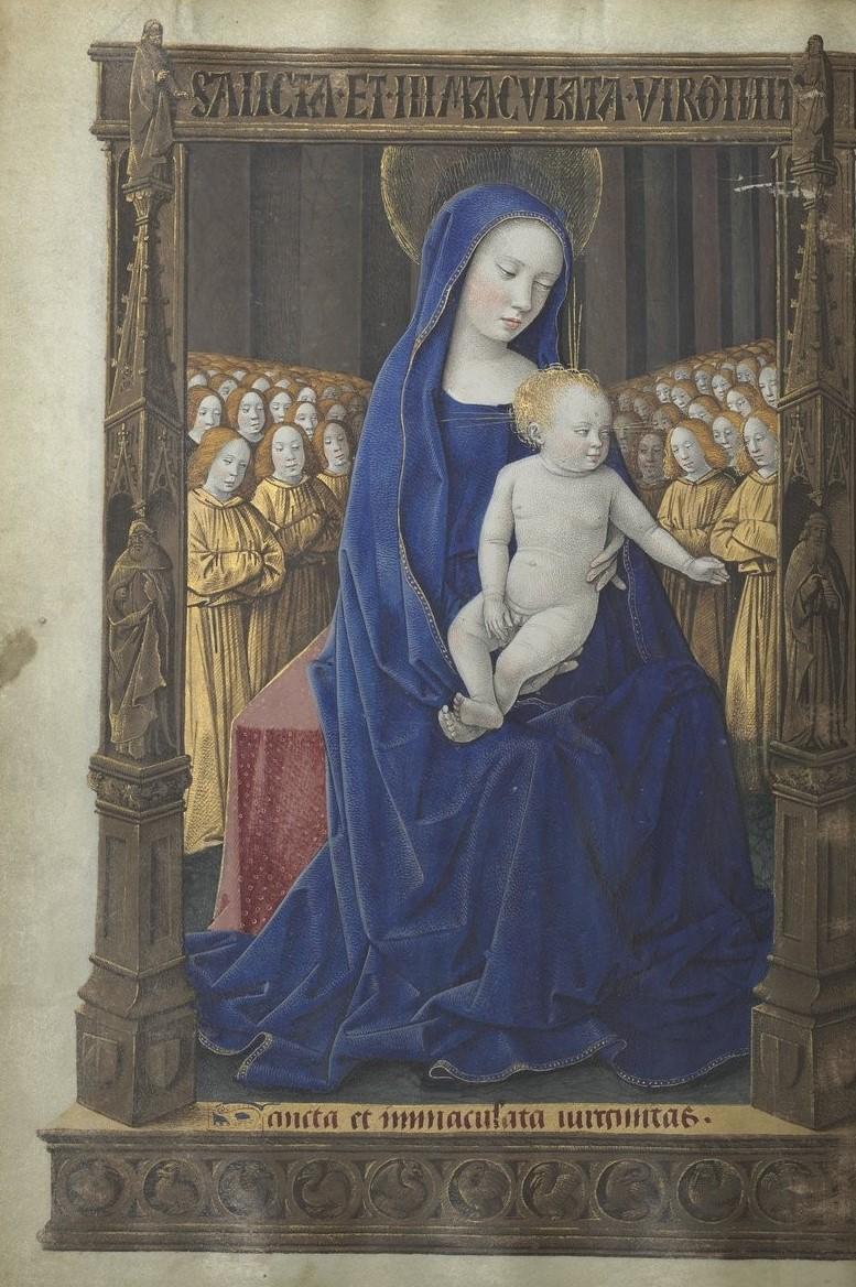 1486 Horae_ad_usum_romanum Louis de Laval BNF Latin 920 fol 50v