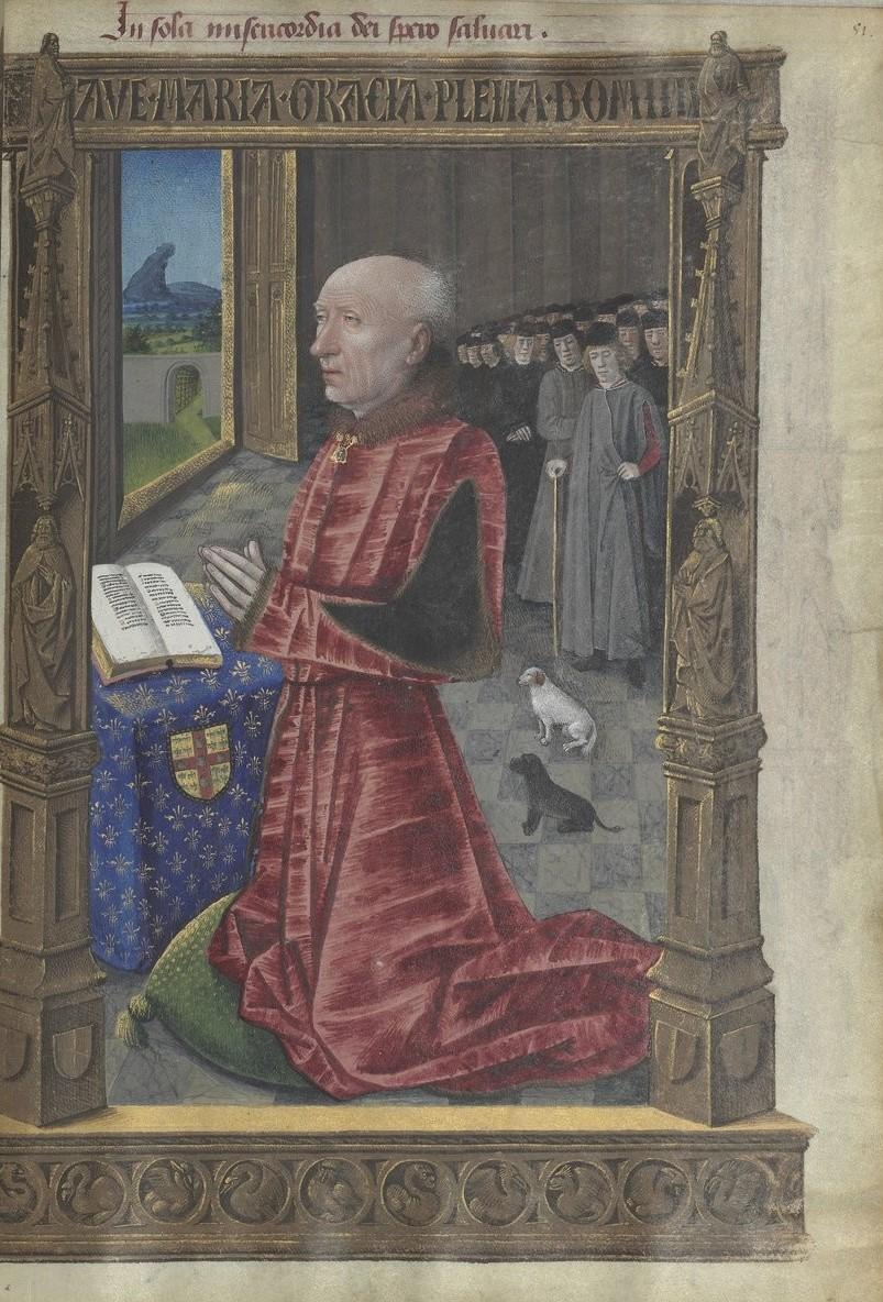 1486 Horae_ad_usum_romanum Louis de Laval BNF Latin 920 fol 51r