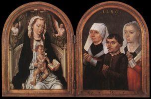 1486 Maitre de la Legende (brugeoise) de sainte Ursule Vierge à l'Enfant Antwerpen, Koninklijk Museum voor Schone Kunsten