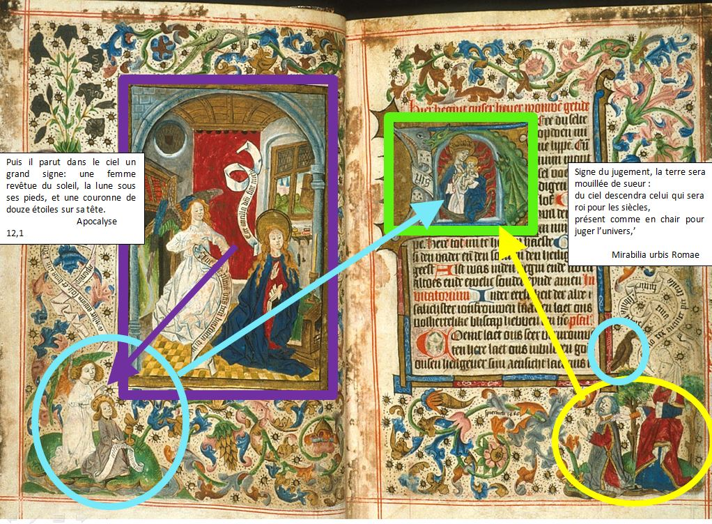 1486 ca Livre d'Heures Pays Bas British Library Harley MS 2943, ff. 17v-18r schema