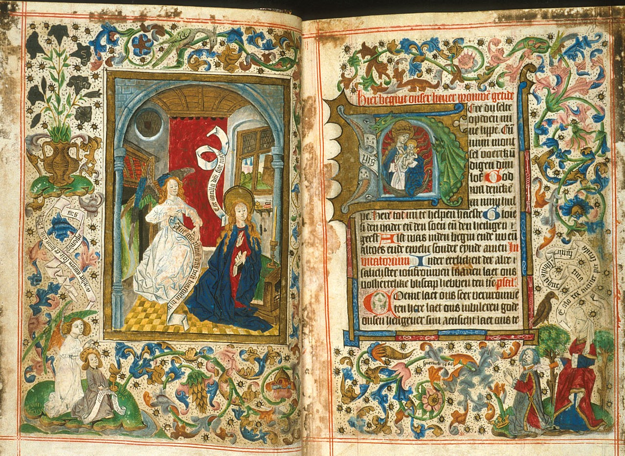 1486 ca Livre d'Heures Pays Bas British Library Harley MS 2943, ff. 17v-18r