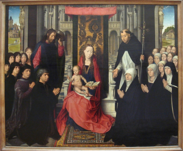 1488-1490 Memling St. James and St. Dominic the Virgin of Jacques Floreins Louvre Paris