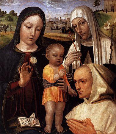 1488-90 Bergognone,_madonna_del_certosino Brera Milan