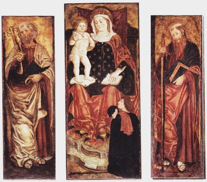 1488 Andrea Bellunello Madonna con Bambino e donatore e i santi Pietro e Paolo, , duomo di San Vito al Tagliamento