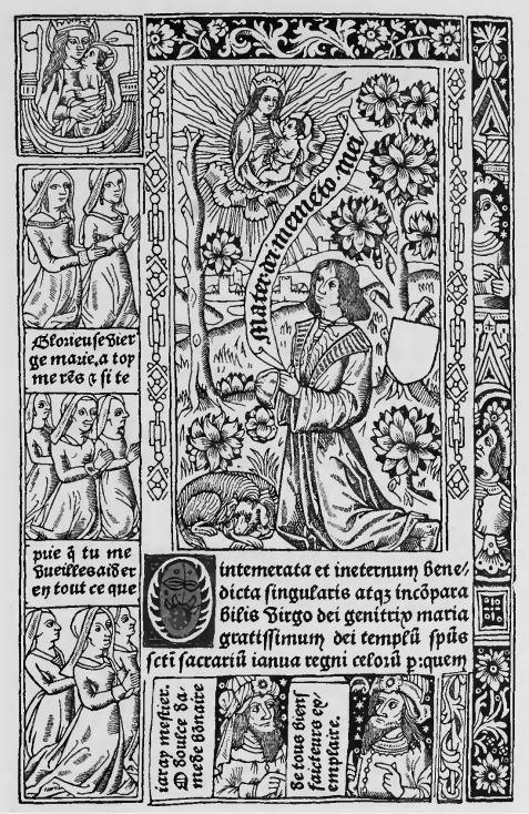 1489 Heures a l'Usage de Rome Jean du Pre reproduit dans Claudin tome 1 p 245