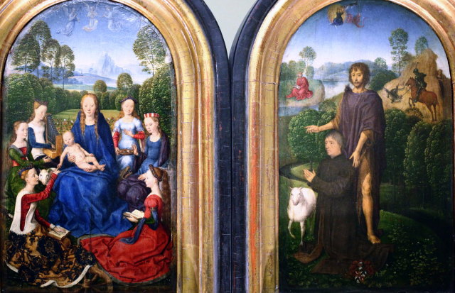 1489 ca Memling Diptyque de Jan du Cellier, bourgeois de Bruges Louvre photo JL Mazieres