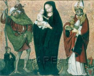 1490-1500 Stifter Hochbrand von Santicell Hl.Christophe Martin Tiroler Landesmuseum Innsbruck