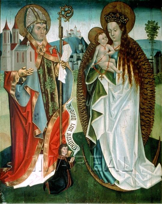1490-1500 Votivbild des Mathias Hierssegker, Presbytere de Hirschegg, Autriche