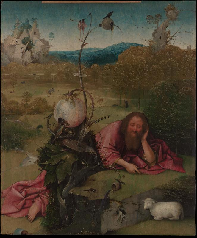 1490-95 Bosch Saint_John_Baptist Madrid Museo Lazaro Galdiano