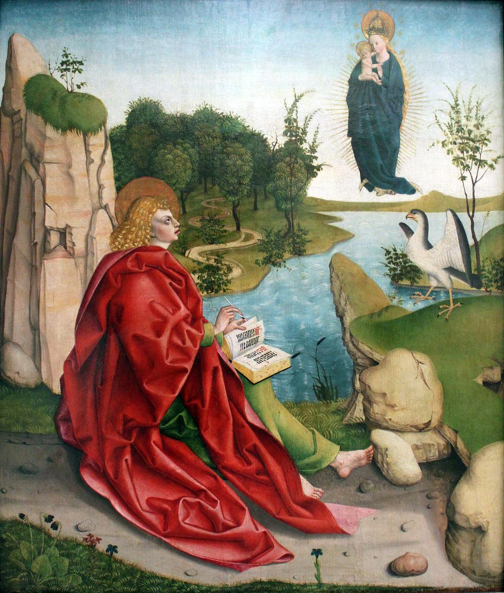 1490_Gleismüller_Johannes_auf_Patmos_anagoria Germanisches Museum Nuremberg