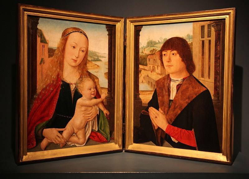1495-1500 maitre de Bruges, ,Virgin and Child and a Donor Courtauld Gallery
