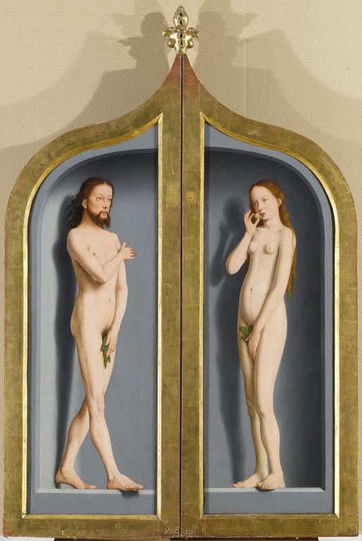 1495-98 David, Gerard Triptyque de la famille Sedano,Louvre, Paris, France revers