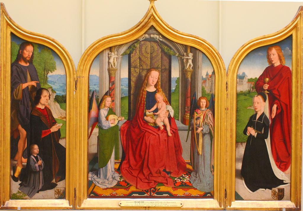1495-98 David, Gerard Triptyque de la famille Sedano,Louvre, Paris, France