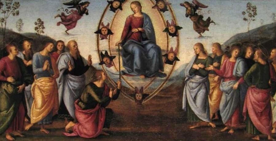 1497 Perugin Assomption predelle du retable de Fano, Chiesa di Santa Maria Nuova, Fano