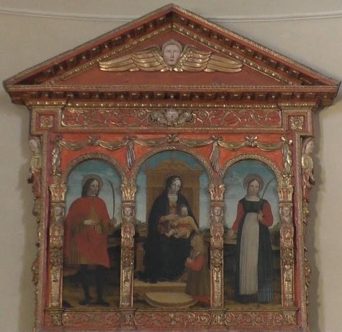 1498-1502 Bevilacqua San Modesto, Vito et Crescenzia eglise de San Vito, Somma Lombardo