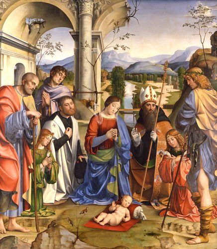 1498-99 Pala Bentivoglio, Francesco Raibolini, Pinacoteca di Bologna