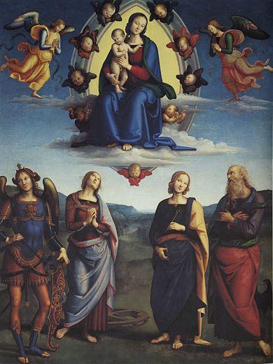 1500-01 Perugin La Vierge en gloire et les Saints Pinacotheque nationale Bologne