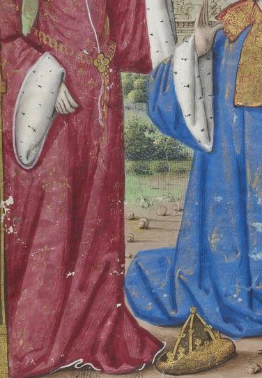 1500-05 Maitre des Triomphes de Petrarque Petites Heures d'Anne de Bretagne Gallica BNF NAL 3027 fol 19v detail 2