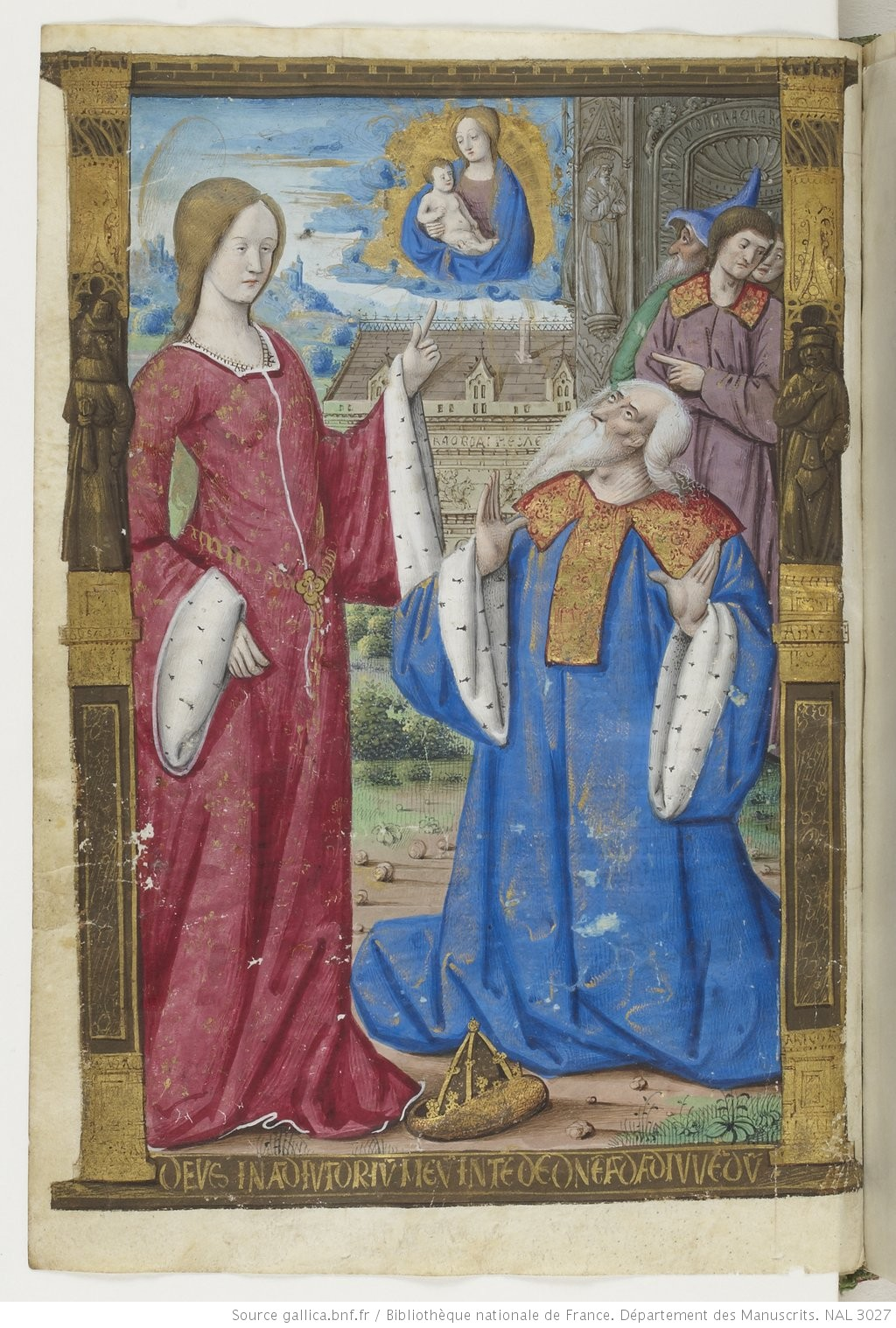 1500-05 Maitre des Triomphes de Petrarque Petites Heures d'Anne de Bretagne Gallica BNF NAL 3027 fol 19v