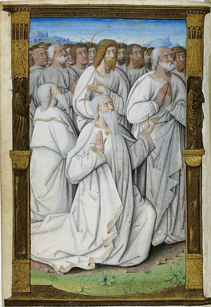 1500-05 Maitre des Triomphes de Petrarque Petites Heures d'Anne de Bretagne Gallica BNF NAL 3027 fol 37v_Saints_et_apotres