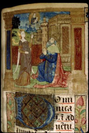 1500-20 Breviaire à l'usage du prieure Saint-Lo de Rouen Bibliotheque Sainte-Genevieve, manuscrit 1266, fol 122