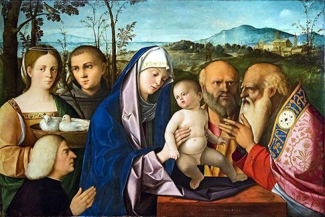 1500-25 Accademia_Venise-_Presentazione_di_Gesu_al_tempio_di_Francesco_Bissolo saint Antoine de Padoue saint Joseph et Simeon