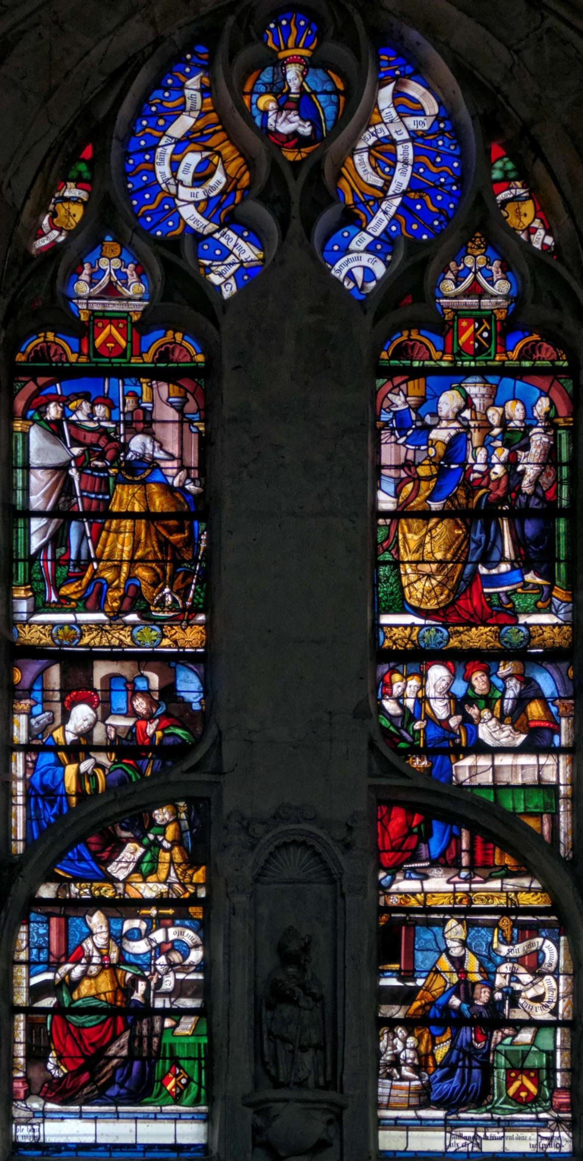 1500-25 Vision d'Auguste eglise Saint-Pierre-es-Liens, Ervy le Chatel Denis Krieger www.mesvitrauxfavoris.fr