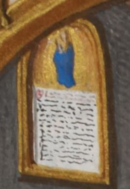 1500 ca Le pape Sixte IV priant la Madonne in sole Add MS 35313 fol 237 r detail