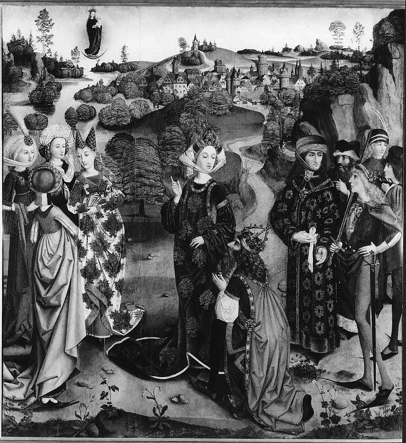 1500 ca Wolfgang_Katzheimer_-_Kaiser_Augustus_und_die_tiburtinische_Sibylle_-Bamberg, Staatsgalerie