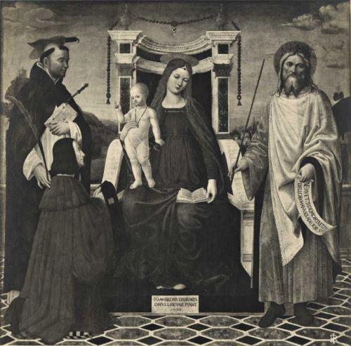 1502 Bevilacqua Saint Pierre Martyre rois David Brera Milan