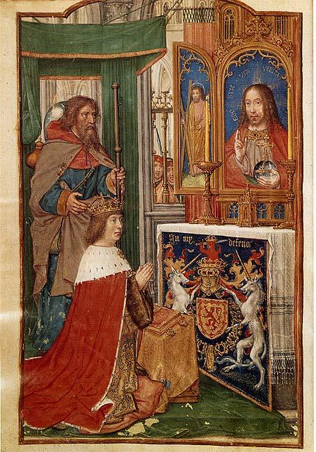 1503 ca Hours of King James of Scotland James of Scotland Osterreichisches Nationalbibliothek, Vienne, ONB MS 1897 fol fol 24v