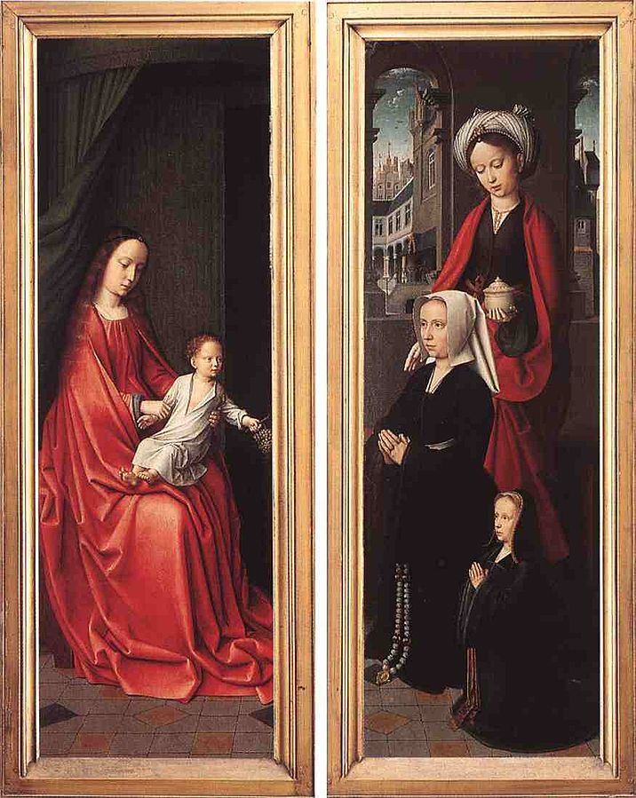 1505 David_Triptych_of_Jean_Des_Trompes_rear Groeninge Museum, Bruges