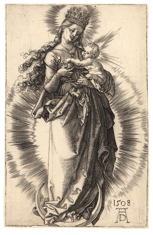 1508 Durer Virgin_on_a_Crescent_with_a_Starry_Crown