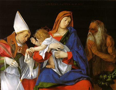 1508 Lorenzo_Lotto_Saint Fabiano et Saint Onuphre Gallerie Borghese Rome