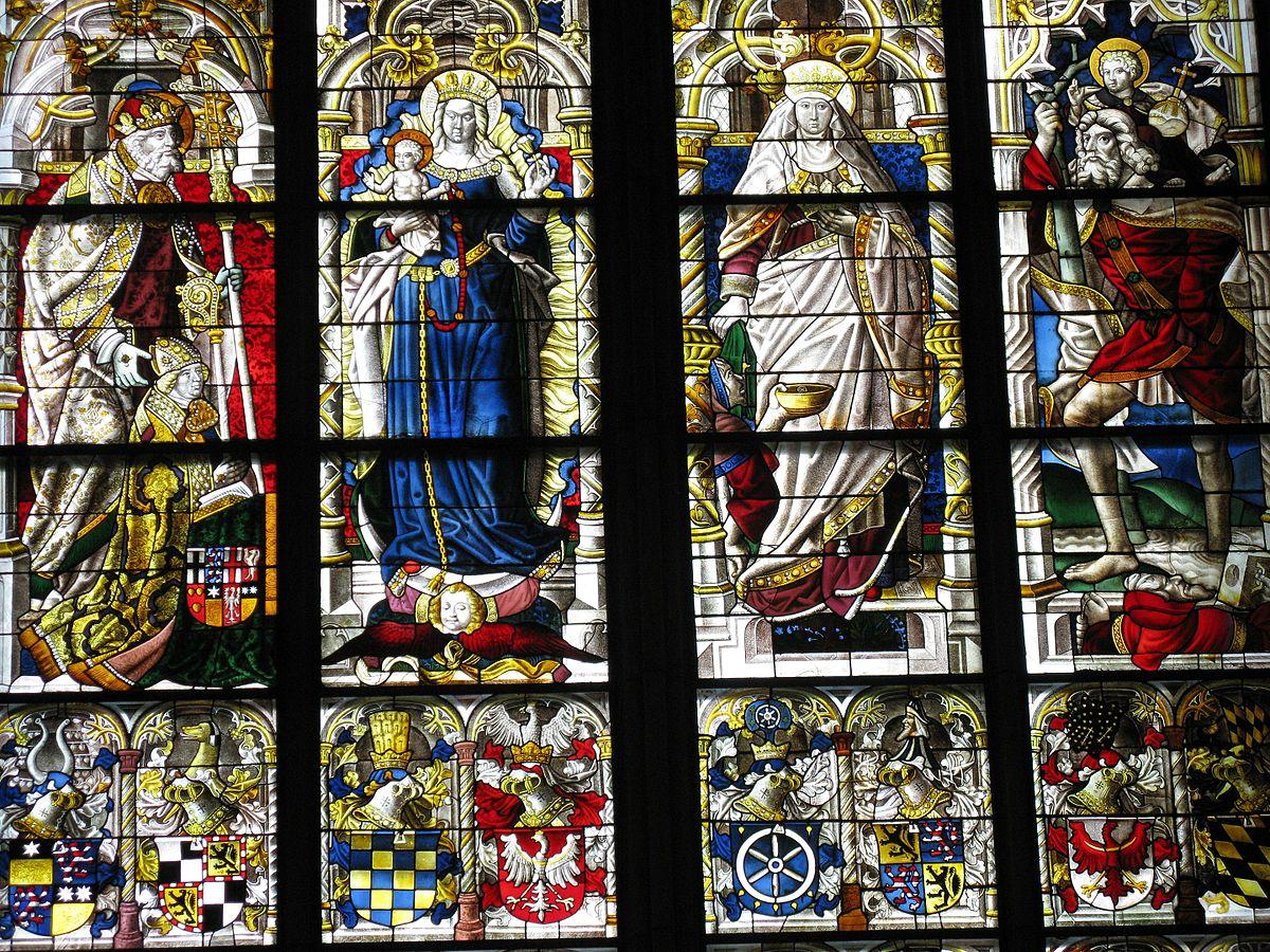 1508 St Pierre Erzbischof Hermann von Hessen elisabeth Dreikonigenfenster Dom Koln