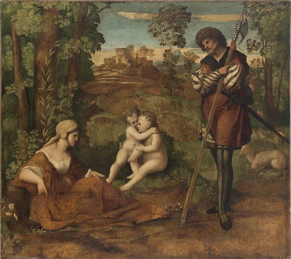1510-15 Palma Vecchio,_Allegory Philadelphia Museum of Art