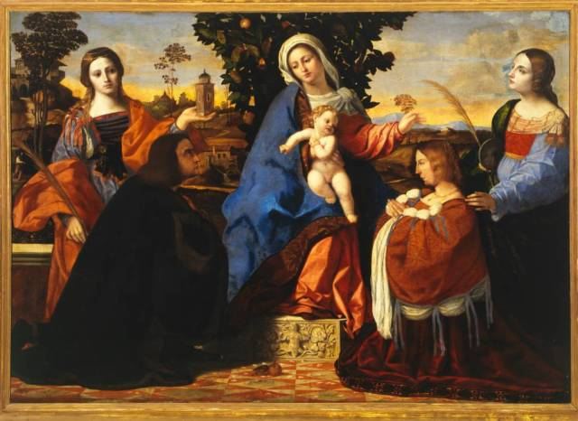 1510 Palma, Jacopo Il Vecchio Sacred Conversation with Saints Barbara and Christine Galleria Borghese, Rome