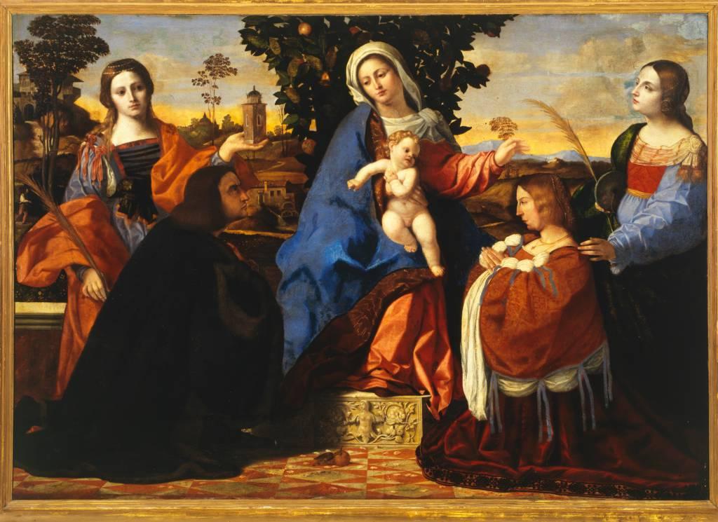 1510 Palma, Jacopo Il Vecchio Sacred Conversation with Saints Barbara and Christine Galleria Borghese, Rome