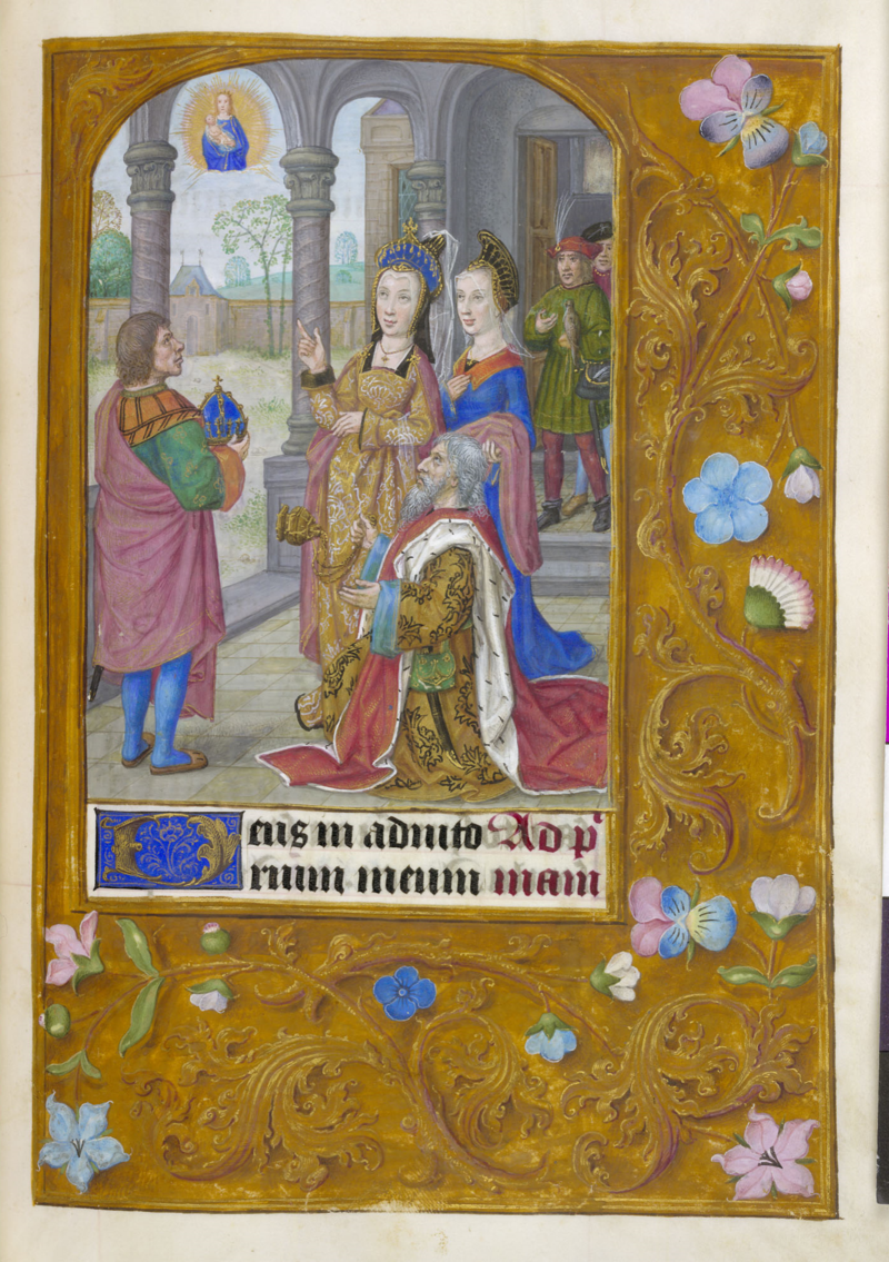 1510 ca Book of Hours, use of Rome, Master of James IV of Scotland, Bruges or Ghent, BL Add MS 35313, f. 90r