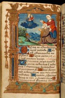 1510 ca Heures à l'usage d'Angers Paris fol 24v, collection particuliere comme donateur qq pages avant