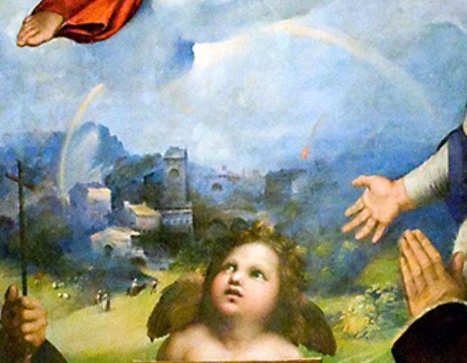 1511-12 Raphael Madonna Di Foligno Musee Vatican detail