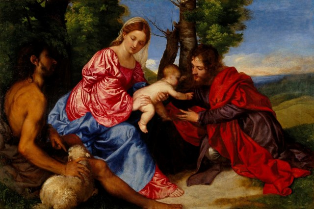 1514-Titien-Madonna-col-Bambino-Giovanni-Battista-e-un-santo-National-Gallery-of-Scotland-Edimburg