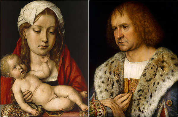 1515-18 Michel Sittow donateur Diego de Guevara. Gemaldegalerie Berlin et NGA