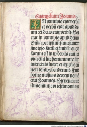 1515 Durer Vision Jean Livre de prieres de l'Empereur Maximilien I, Munich, Bayerische Staatsbibliothek, 2 L.impr.membr. 64, fol. 17v