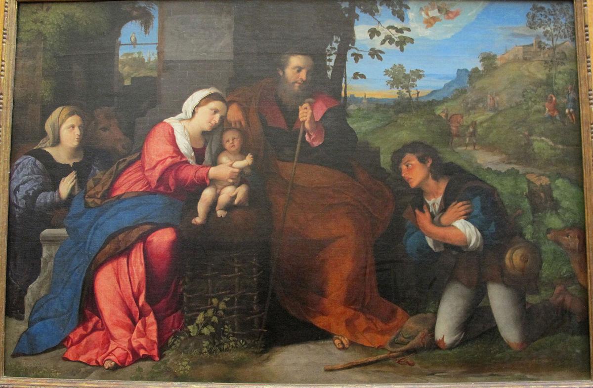 1520-25 Palma_il_vecchio,_adorazione_dei_pastori Louvre Paris