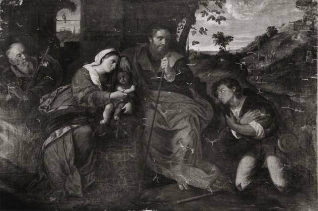 1520-25 Palma_il_vecchio,_adorazione_dei_pastori version avec St Roch